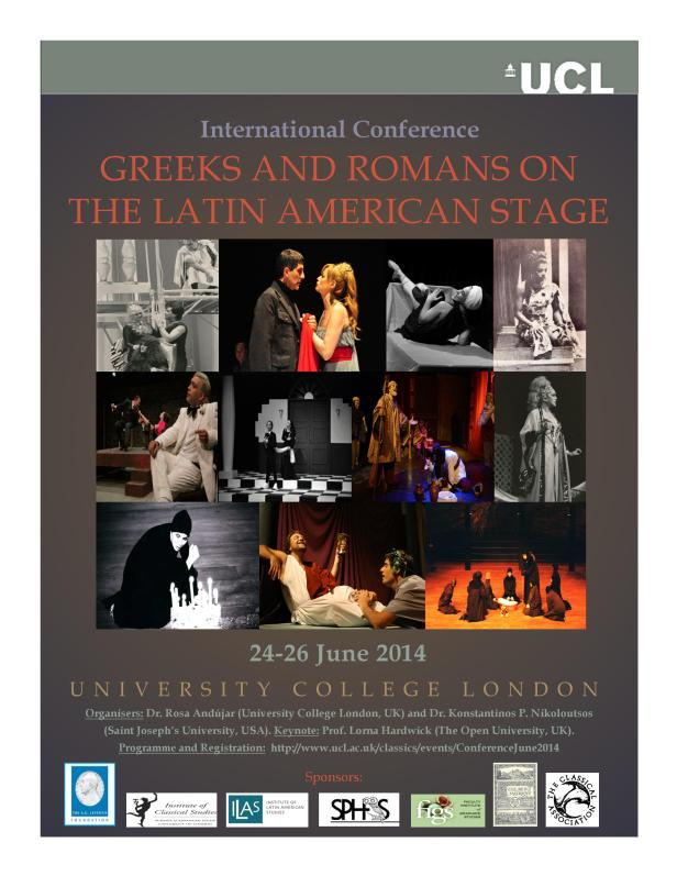Poster for conference on Greeks and Romans on the Latin-American stage