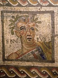Portrait of Quintus Ennius (239-169 BC) (mosaic)