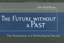 Detail of book cover - The Future without a Past, by John Paul Russo