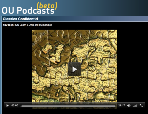 Screen shot of OU podcast  channel