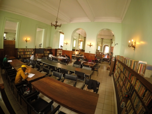 the interior of the Macmillan library in Nairobi