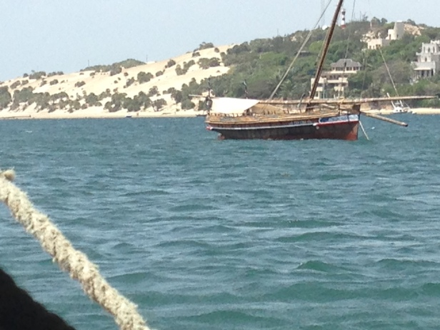 Lamu dhow (photo sent by Carla Bocchetti)