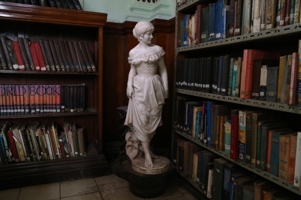 statue made by Lapini from Florence located at the interior of the Mcmillan library in Nairobi